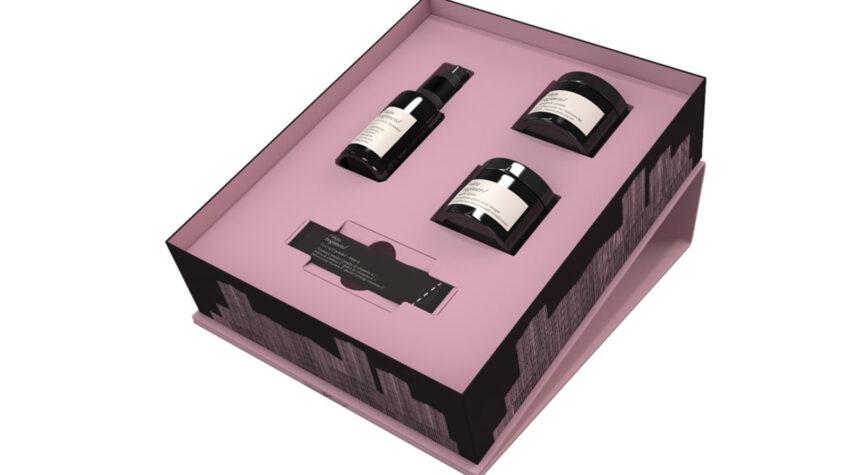 Wellnessmomente für Zuhause: Verschenke ein Geschenkeset von Diese hübsche Geschenkebox macht sich auch als Deko im Badezimmer richtig gut. © [comfort zone]
