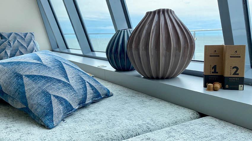Nachhaltigkeit trifft Luxus: Auch im THE GRAND gibt es die rezemo Kapseln seit einiger Zeit. © rezemo