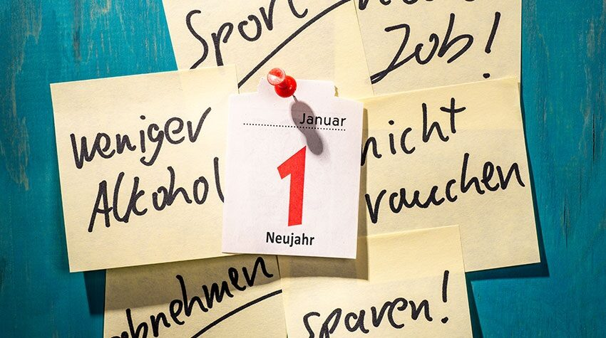 Jedes Jahr zu Silvester nimmt sich ein Großteil der Deutschen gute Vorsätze fürs neue Jahr vor. © Shutterstock, gopixa
